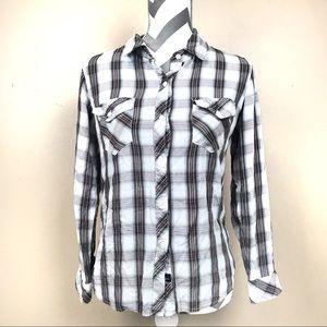 Rails plaid checkered button up shirt small S